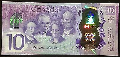 Banknote - 2017 Canada 150th Anniversary Commemorative $10 Tracked Shipping