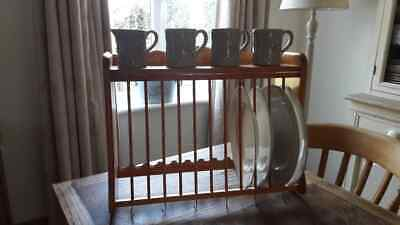 Solid Wood Wall Mounted / Free Standing Plate Rack