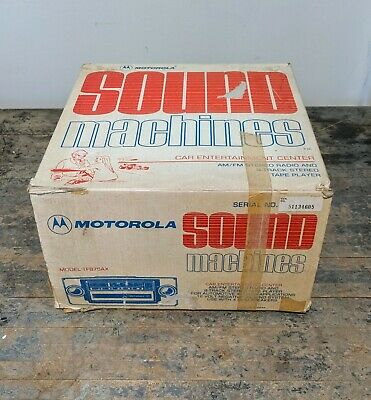 1976 Motorola Sound Machine AM/FM Radio Stereo Tape 8 Track Player TF875AX w/Box