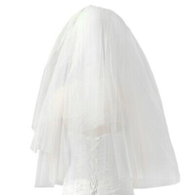 Fashion Wedding Veil Simple Tulle White Two Layers Bridal Veil Bride Access S8H7