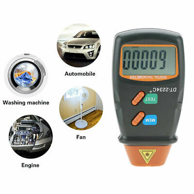 Digital LCD Automatic Non-Contact Laser Photo Tachometer RPM Tester Speed Meter