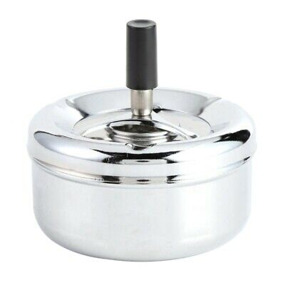 Round Spinning Ashtray Cigarette Ash Round Stainless Steel Ashtray Housewar C4Y4