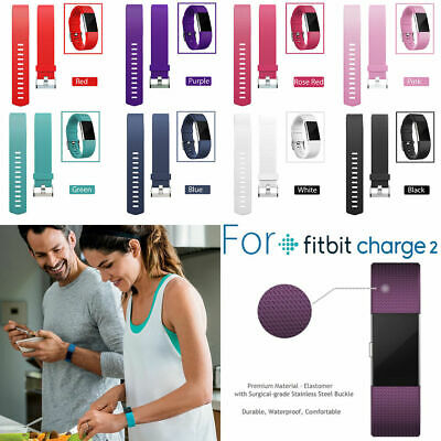 For Fitbit Charge 2 Band Replacement Sports Silicon Strap Wristband Small Large