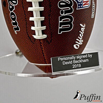 Perspex American Football Wall Stand (With Free Inscription Plaque)