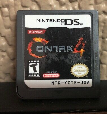 Contra 4 (Nintendo DS, 2007) Authentic - Cartridge Only