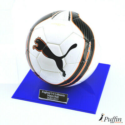Perspex Football display case - Blue base