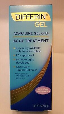 DIFFERIN 0.1% Adapalene Gel 1.6 oz Acne Treatment New in Box Exp: 06/21 or later
