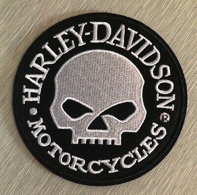 Harley Davidson Classic Logo Patch Skull Willie G Iron On Motorcycle Shield Bike