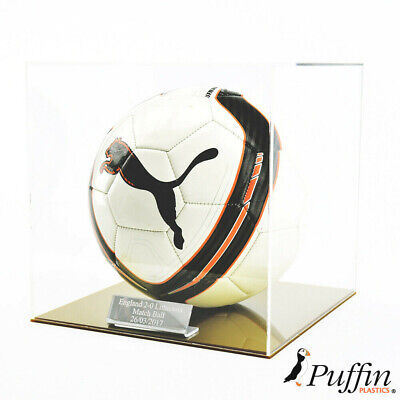 Perspex Football display case - Gold base