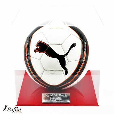 Perspex Football display case - Red base