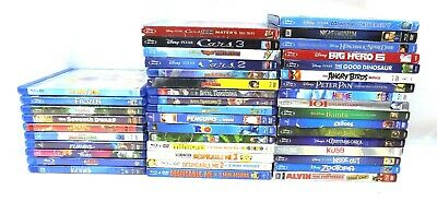 Lot Of 43 Blu-Ray Movies, Disney Diamond, Dream Works All In Very Good Condition