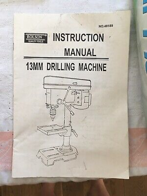 Bench Pillar Drill Made By Rolson Stand Optional 3600
