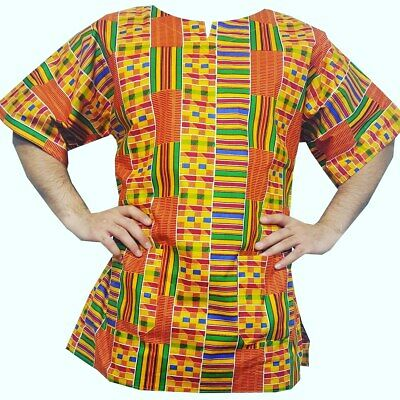 Kente African Print Shirt #2 (Short Sleeve)