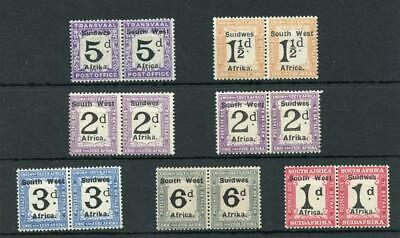 South West Africa 1927 Postage Due set + 2d shade SGD33/39 fine MLH cat £64