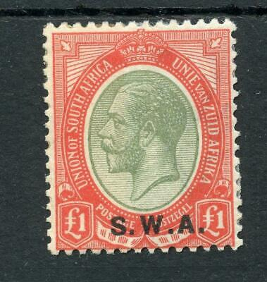 South West Africa 1927 £1 pale olive-green and red SG57 MLH - see desc