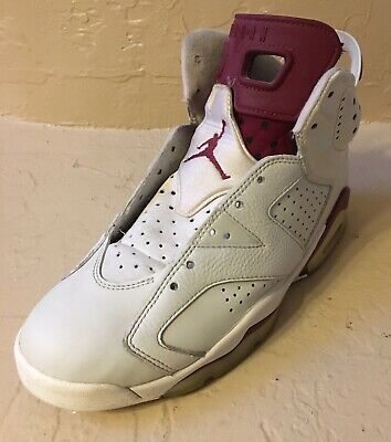 Nike Air Jordan Vi 6 Retro Off White Maroon Infrared Red Bred 384664-116 8