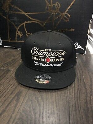 "OVO 2019 Toronto Raptors Champions Snapback Hat ""THE BEST IN THE WORLD"""