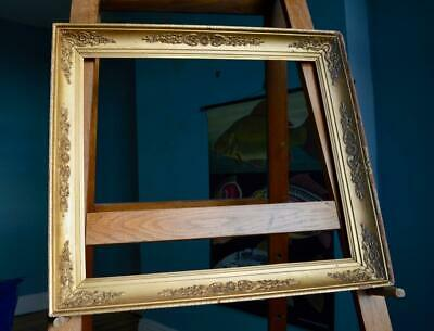 FINE Lrg ANTIQUE VICTORIAN GILT GESSO PICTURE FRAME Ornate Portrait GOLD ROCOCO