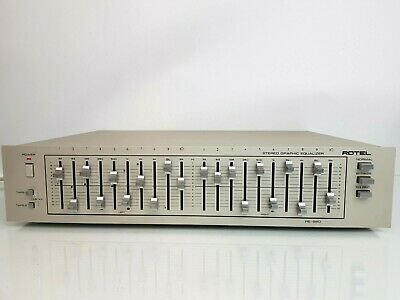 Vintage  Rotel Re-860 2x10 Band Stereo Graphic Equalizer Hifi Component Seperate