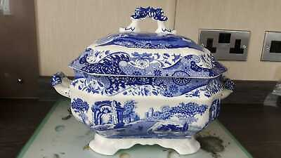 Spode Italian Large Soup Tureen Blue and White Fine Porcelain Unused Brand New