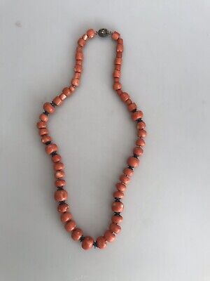 Superb Large Chinese Salmon Coral Bead Necklace 137g