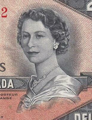 1954 Bank Of Canada Qeii $2 **Devils Face** (( Ef ))