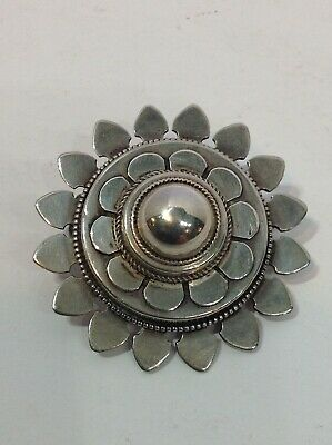 Victorian Sterling Pin Brooch. Antique. Renaissance Revival