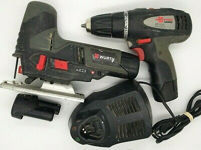Set WURTH Cordless Screwdriver 10,8V 2,0Ah BS 10-A and Jet STP 10-A with Charger