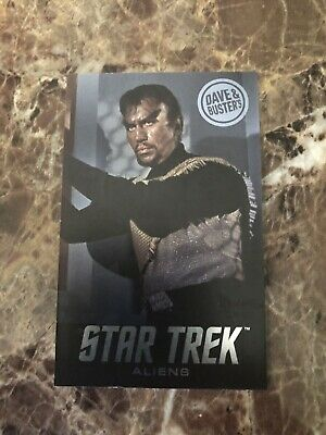 Dave and Buster's Aliens Star Trek Non Foil Klingons Arcade Card