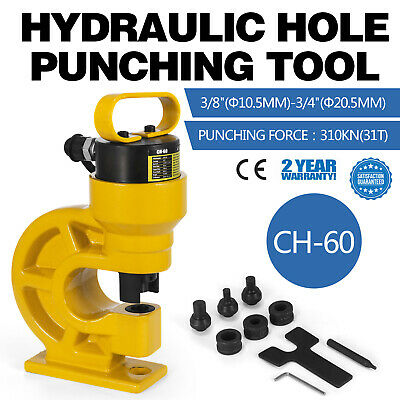 CH-60 Hydraulic Hole Punching Tool Puncher Metal Plate Tool 10,5-20,5mm 31T