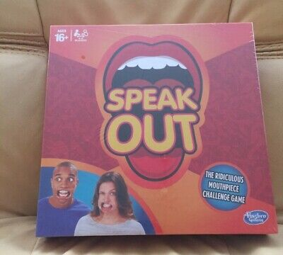 Hasbro Speak out Party Board Game Party Mouth Piece Challenge Kids Fun New Xmas