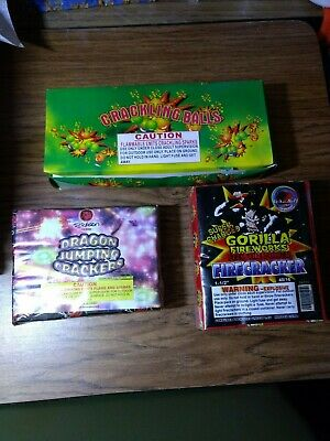 Firecracker Firework Labels Crackling Balls Dragon Crackers Gorilla Brick Labels