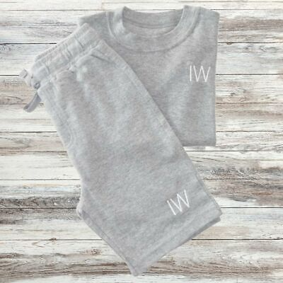 Personalised Kids T-Shirt and Shorts Set, Embroidered Kids Initials
