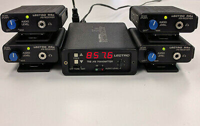 Lectrosonics IFB System Block 33, 1 T5 Transmitter + 4 R5a Receivers