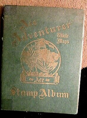 Old Stamp Album ADVENTURE World & GB Stamps 1,000+ COLLECTION MANY OLDER STAMPS