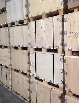 Wooden Shipping Crate Transportation Storage Heavy Duty with Fork Lift Skid Used