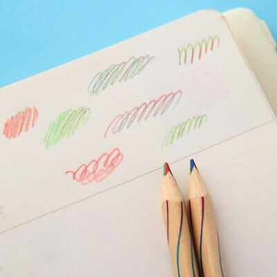 10pcs/Lot Rainbow Color Pencil 4 in 1 Colored Drawing Painting Pencils
