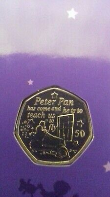 2019 Bunc Isle Of Man **Peter Pan** 50P Coin