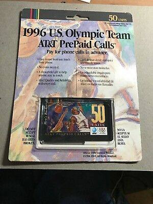1996 U.S. Olympics Phone Card (Basketball) 50 Units Sealed