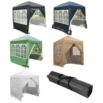 Waterproof 2.0Mx2.0M Pop Up Gazebo Marquee Garden Awning Party Tent Canopy