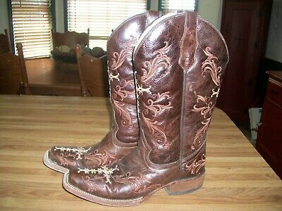 2174ab23354 CIRCLE G BY Corral Women's Square Toe Western Boots Shedron/Beige ...