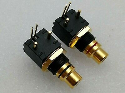 Rca Femmina Da Circuito Stampato Gold Hi End Audio Connettore Pcb
