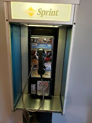 Vintage Pay Phone & Metal Enclosure & Stand, Pacific Bell, At&t, Sprint See Desc