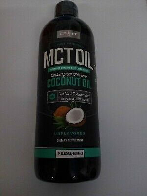 Onnit MCT Oil Pure Coconut Oil Ketogenic Diet Unflavored 24 fl oz Exp 11/20