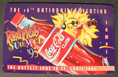 1996 Coca-Cola Score Board 16th National Convention Sprint Phone Card St Louis