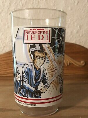 Vintage Star Wars Burger King Plastic Cup Drinking Glass