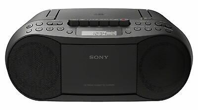 Sony CD Player Boombox with Cassette Recorder and Radio, CFD-S70 Black