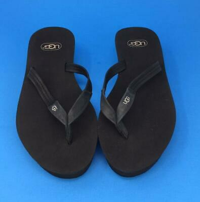 9dae3a24449 UGG RED NUBUCK Leather Casual Flip Flop Thong Slide Sandal Shoes ...
