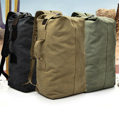 Canvas Camping Hiking Bag Army Military Tactical Backpack Rucksack Sport Travel