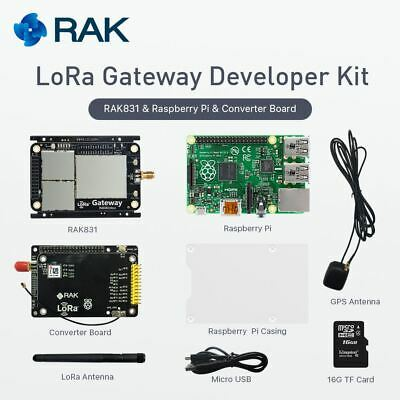 RAK831 LORA/LORAWAN GATEWAY Developer Kit with RasPi and MAX-7Q GPS